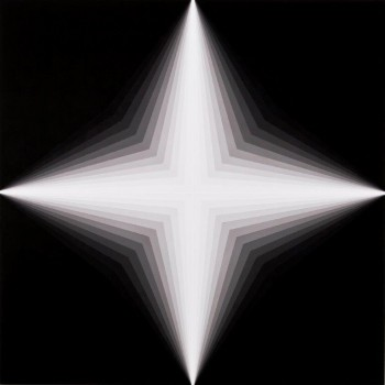 Light Lines #2 2013    Acrylic on linen 100 x 100cm