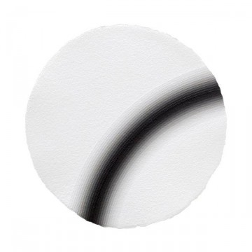 Curved Space #4, 2014 | Acrylic on paper 30cm diameter