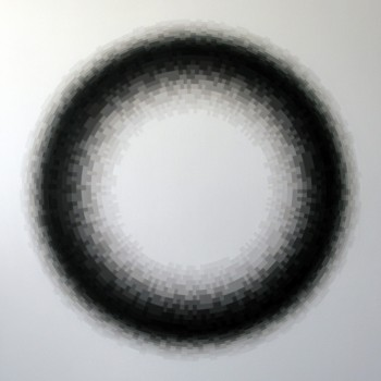 Probability Monochrome: Annulus | 2012 Acrylic on canvas 122 x 101.5cm