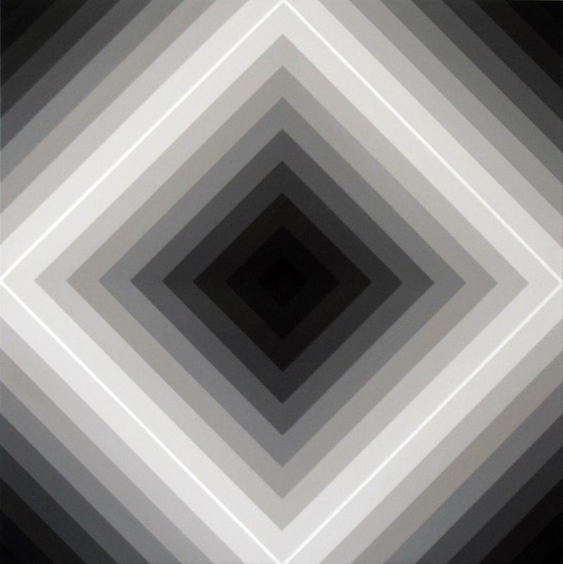 Proximal #9   2008 Acrylic on linen   46 x 46 cm