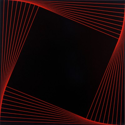Trace (Red #2) | 2007 Acrylic on canvas | 101.5 x 101.5 cm