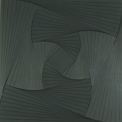 Trace (Grey #2) | 2008 Acrylic on canvas | 101.5 x 101.5 cm