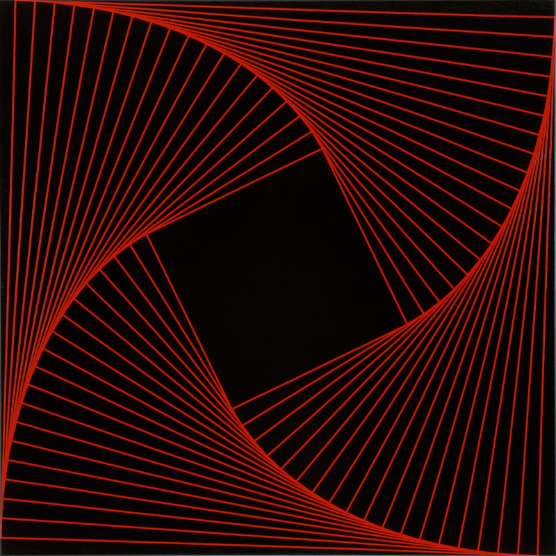 Trace (Red #1) | 2008 Acrylic on canvas | 101.5 x 101.5 cm