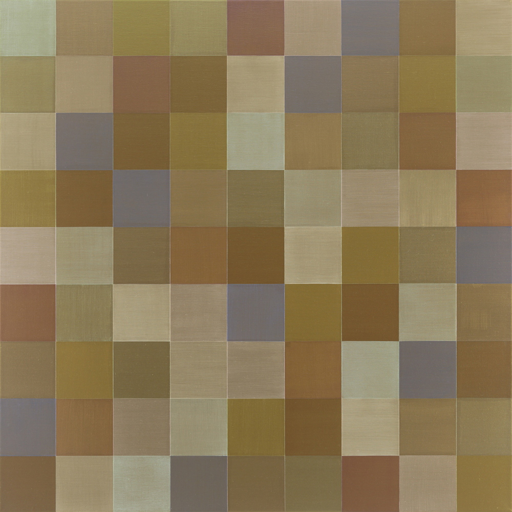 Bronze Wing | 2016 Acrylic on linen 100 x 100cm