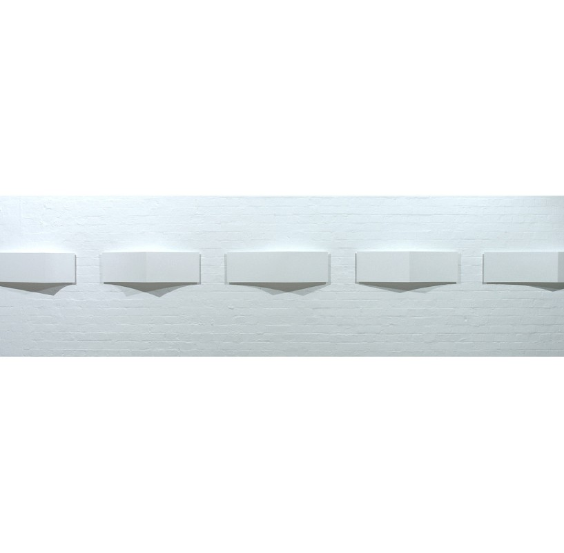 Variations on Light and Edge | 2002 | Acrylic on wood | 5 panels, each 30 x 100 cm (varying depth)