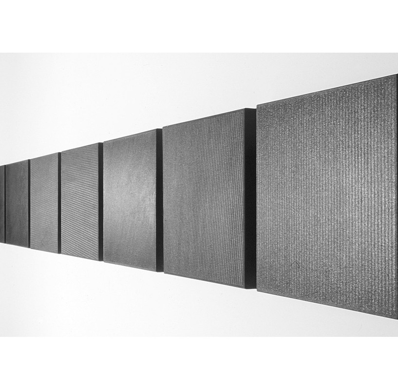 Writing the Dark | 2000 Acrylic on canvas | 9 units, each 46 x 46 cm