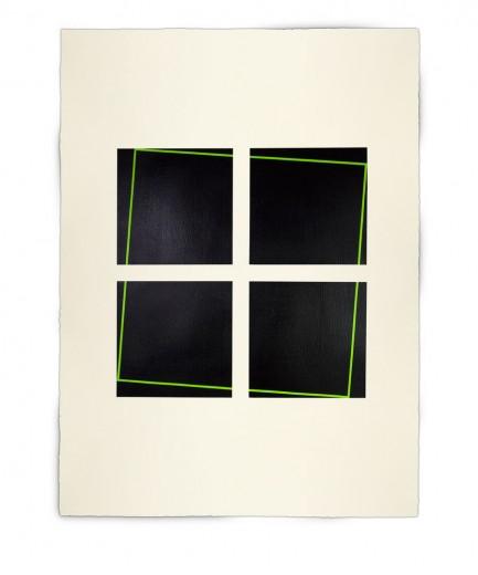 Corner-Suite: Variation #7 | 2011 Acrylic on watercolour paper | 56 x 76 cm