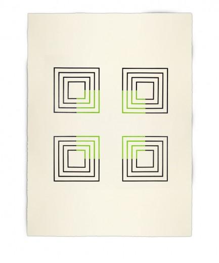 Corner-Suite: Variation #9 | 2011 | Acrylic on watercolour paper | 56 x 76 cm