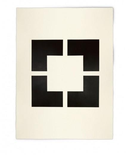 Corner-Suite: Variation #18 | 2012 Acrylic on watercolour paper | 56 x 76 cm