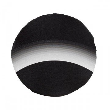 Curved Space #1 2014 | Acrylic on paper 30cm diameter