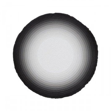 Curved Space #5 2014 | Acrylic on paper 30cm diameter