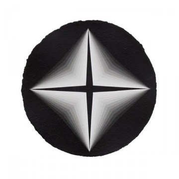 Curved Space #9 2014 | Acrylic on paper 30cm diameter