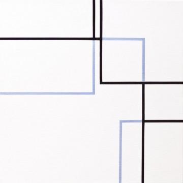 Line 2013 | Acrylic on linen 46 x 46cm