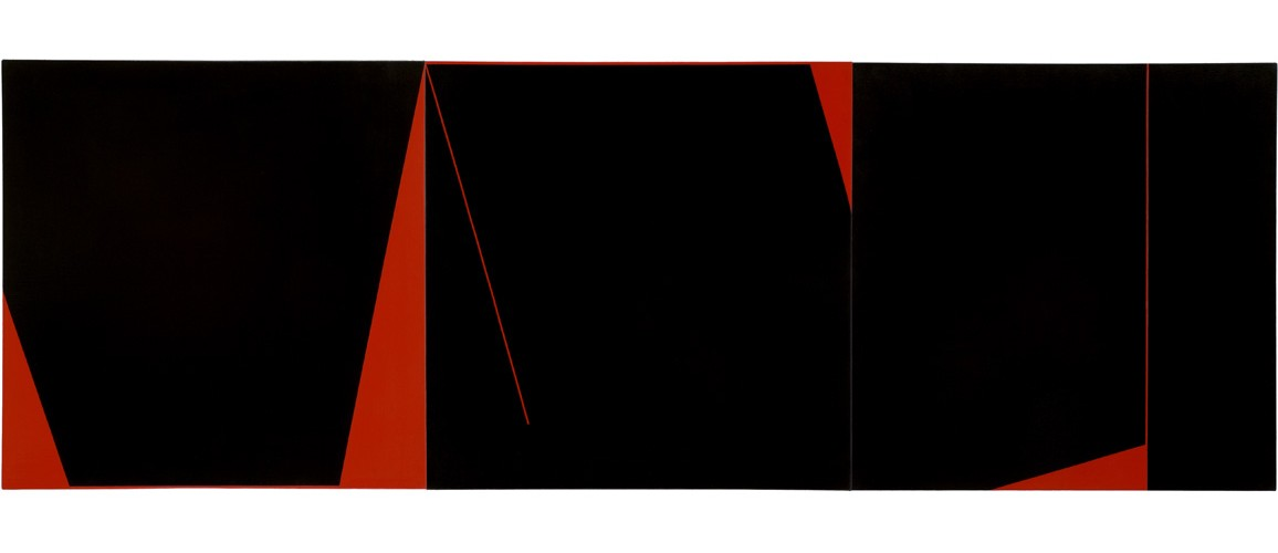 Nocturne for Red (Space) #1 #2 #3 triptych | 2004 Acrylic on canvas | 230 x 76.5cm