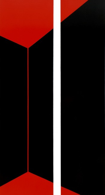 Nocturne (Red) Diptych | 2006 | Acrylic on linen | 78 x 160 cm