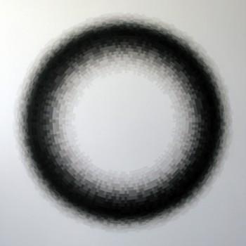 Probability Monochrome: Annulus | 2012 Acrylic on canvas 122 x 101.5cm