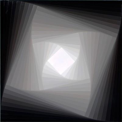 Trace (Grey #3) | 2008 Acrylic on canvas | 101.5 x 101.5 cm