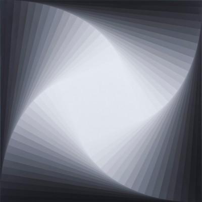 Trace (Grey #4) | 2009 Acrylic on linen | 101.5 x 101.5 cm