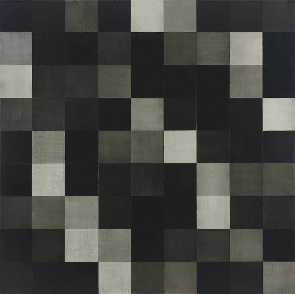 Black Rain | 2016 Acrylic on linen 100 x 100cm
