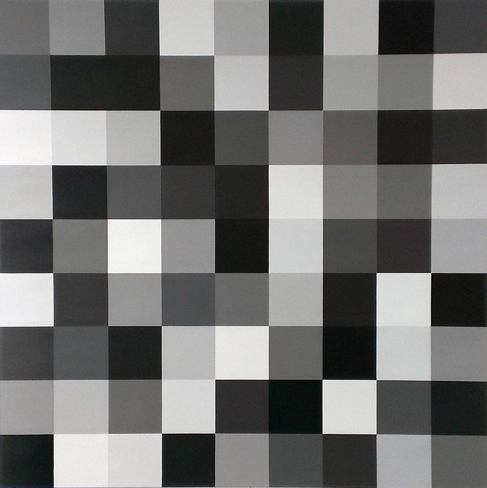 Sample One | 2016 Acrylic on linen 100 x 100cm